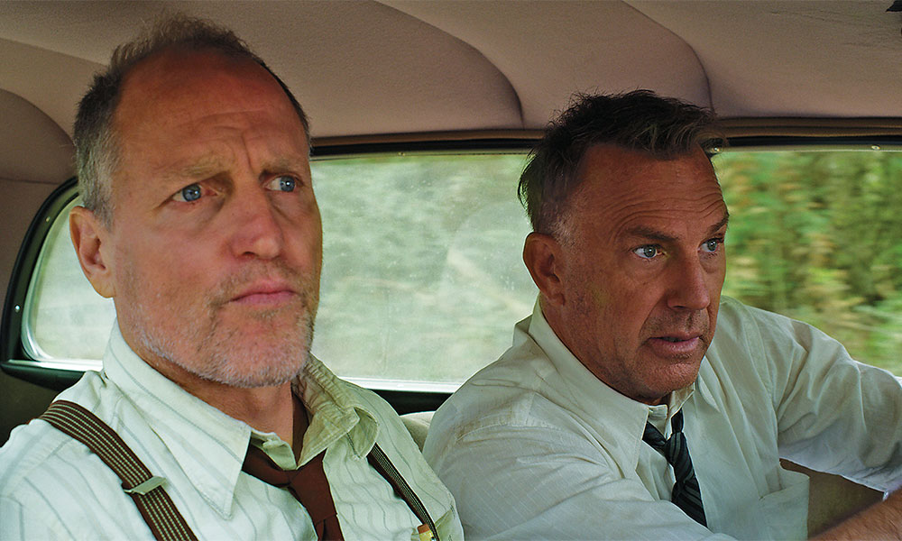 woody harrelson and kevin costner in the highwaymen true west magazine