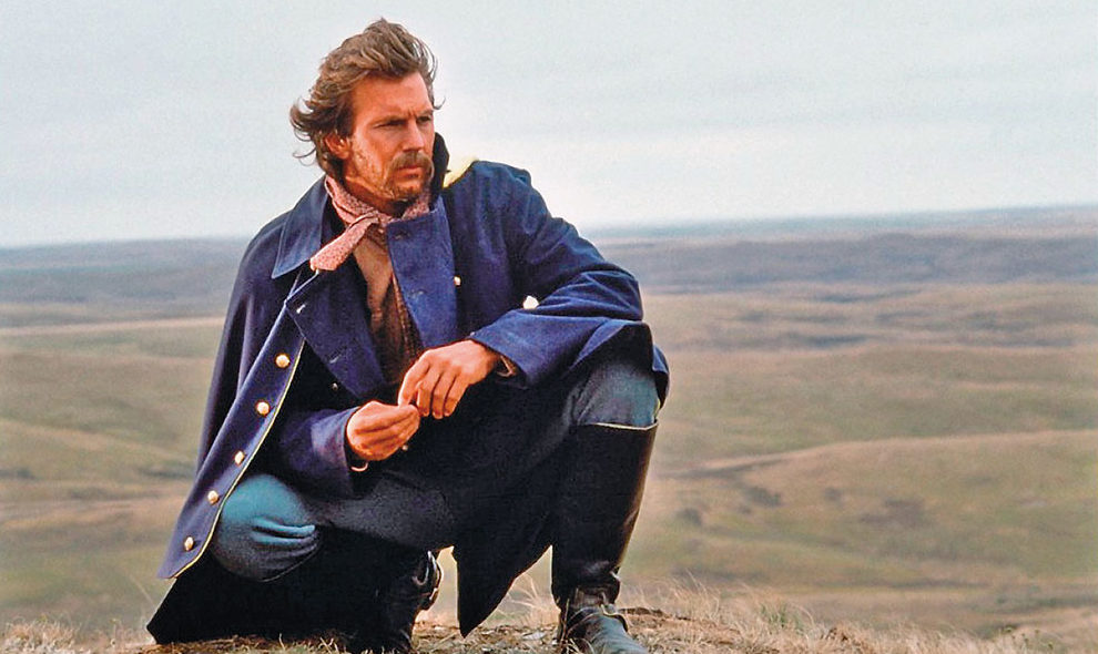 kevin costner in a field dances with wolves true west magazine