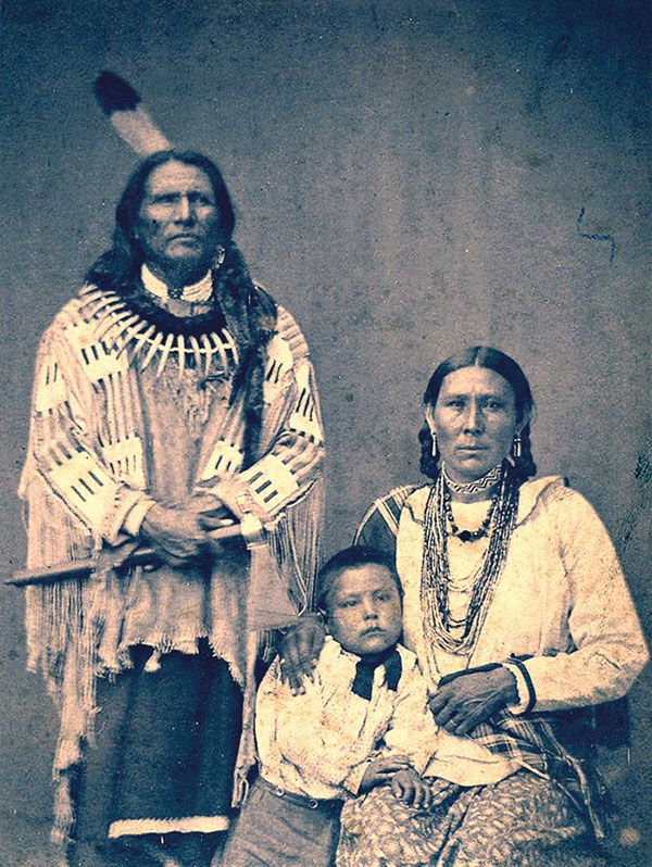 standing bear and family historical photograph true west magazine