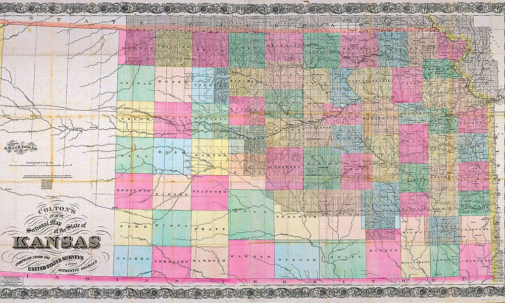 kansas historical map true west magazine