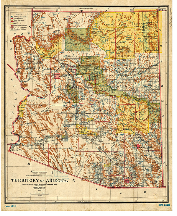 arizona territory map true west magazine