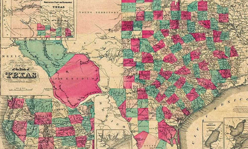 map of texas historic true west magazine