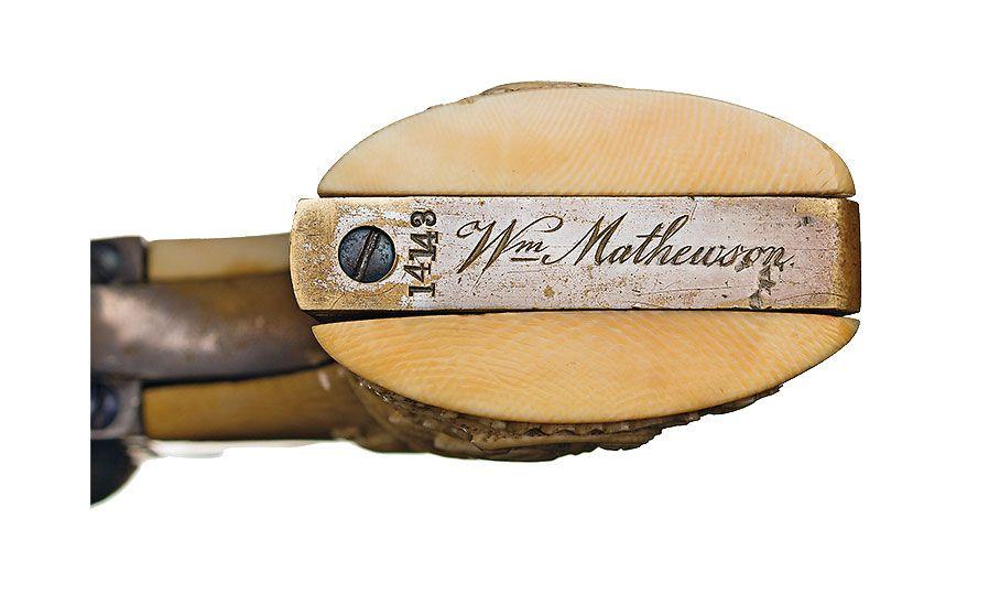 william mathewson silver plated revolver butt plate true west magazine