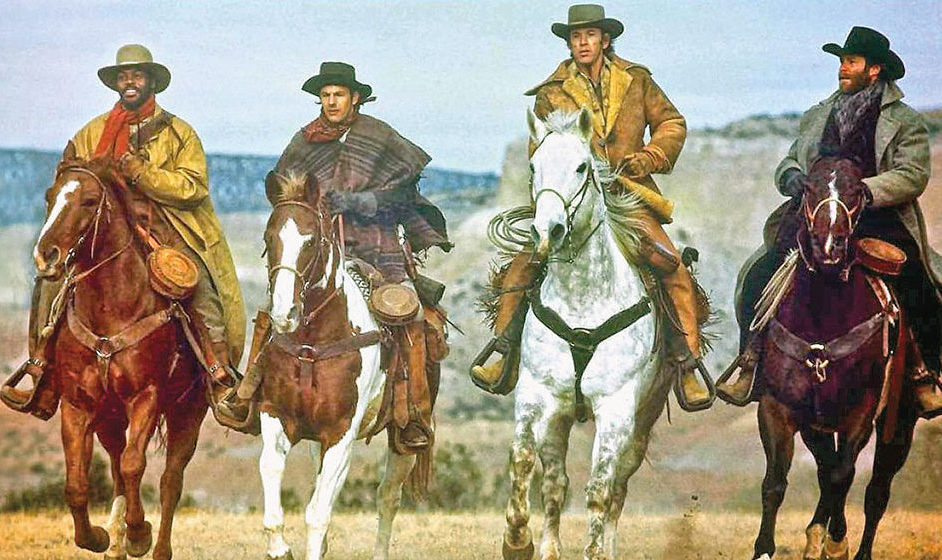 kevin costner in silverado on horseback true west magazine