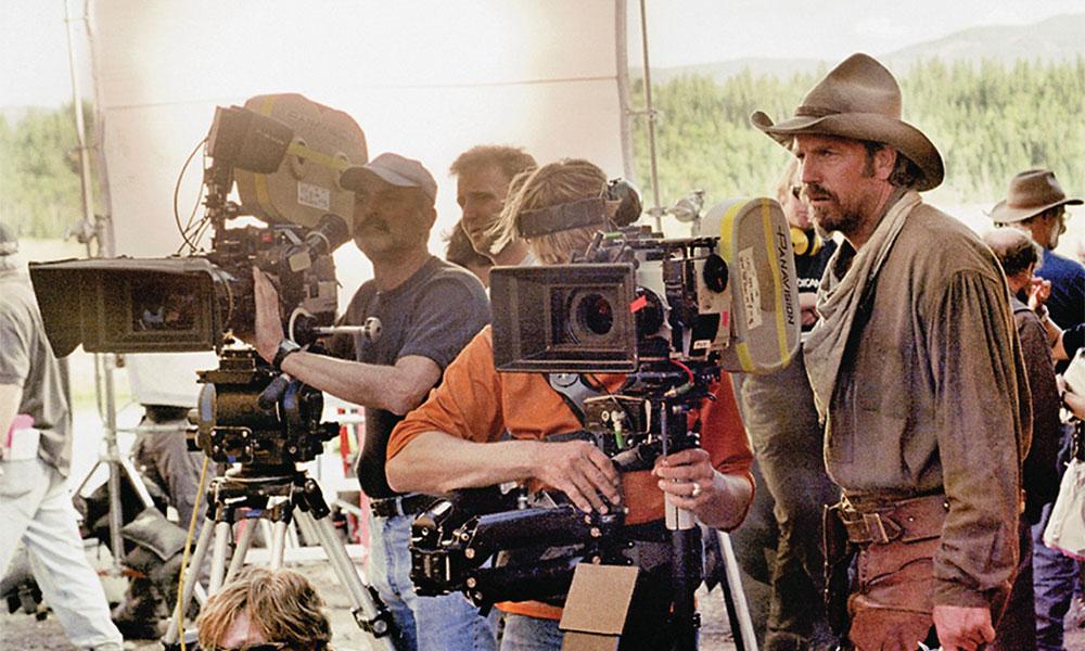 on set of open range behind the scenes kevin costner true west magazine