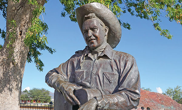 rex allen statue willcox true west magazine