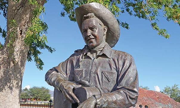 rex allen statue willcox true west magazine