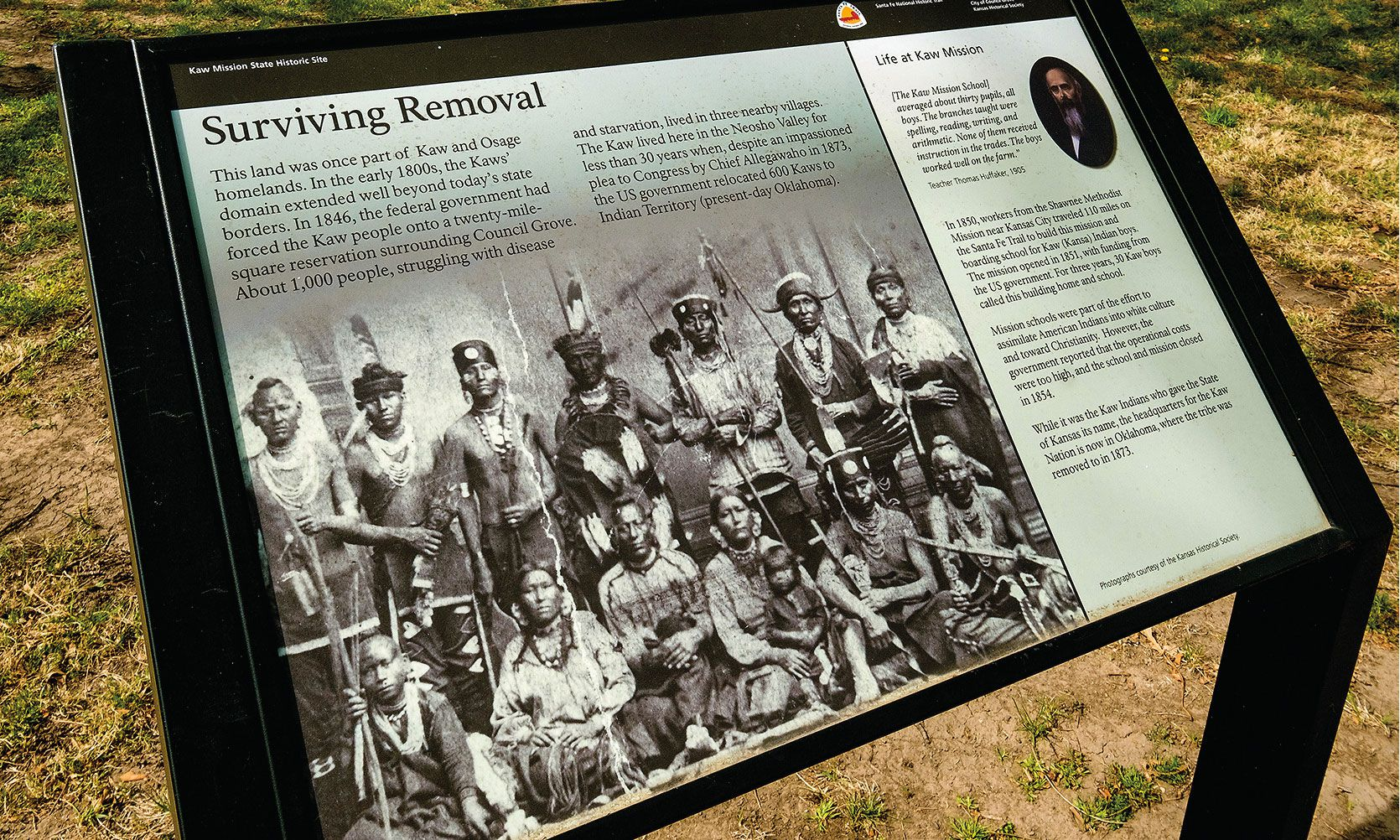 trail of tears indian removal plaque kaw mission historic site true west magazine