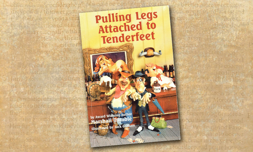 puling legs attached to tenderfeet marshall trimble cover true west magazine