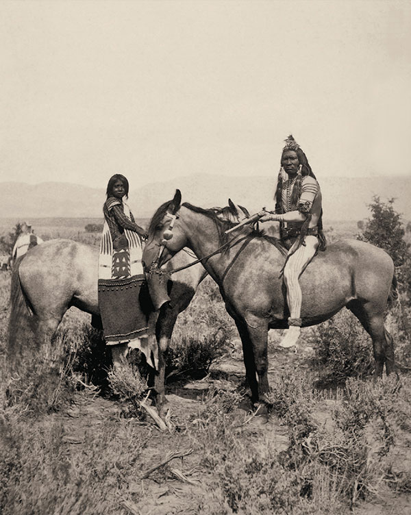 unita utes bride and warrior on horses true west magazine