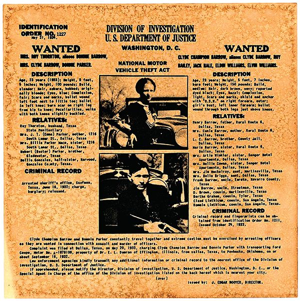 bonnie and clyde wanted poster true west magazine