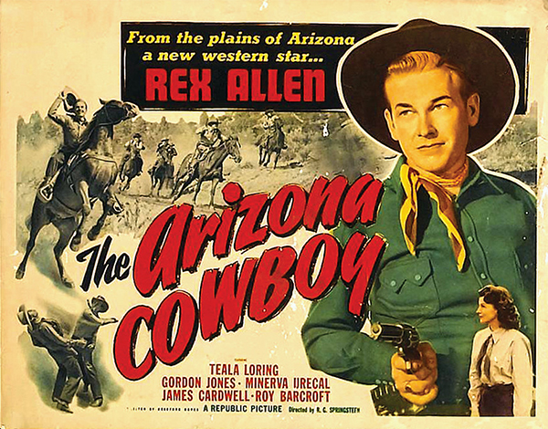 the arizona cowboy rex allen movie poster true west magazine