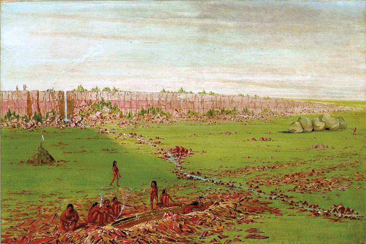 pipestone quarry on the coteau des prairies george catlin true west magazine