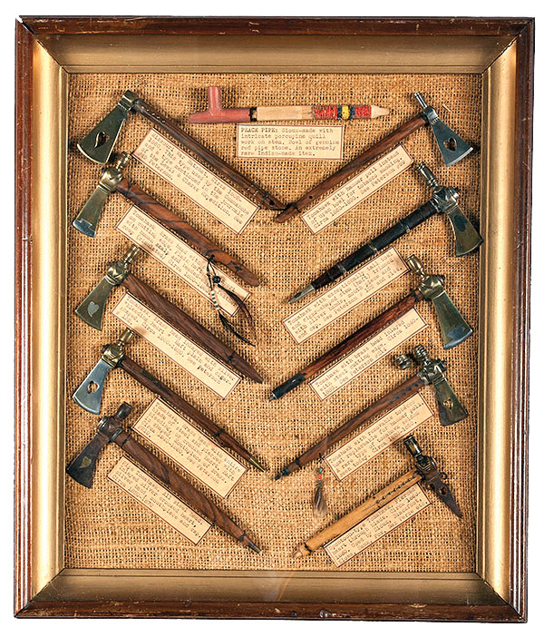 pipe tomahawk display at auction true west magazine