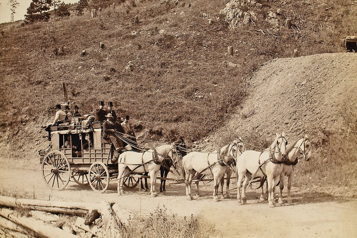 stagecoach in south dakotas black hills true west magazine