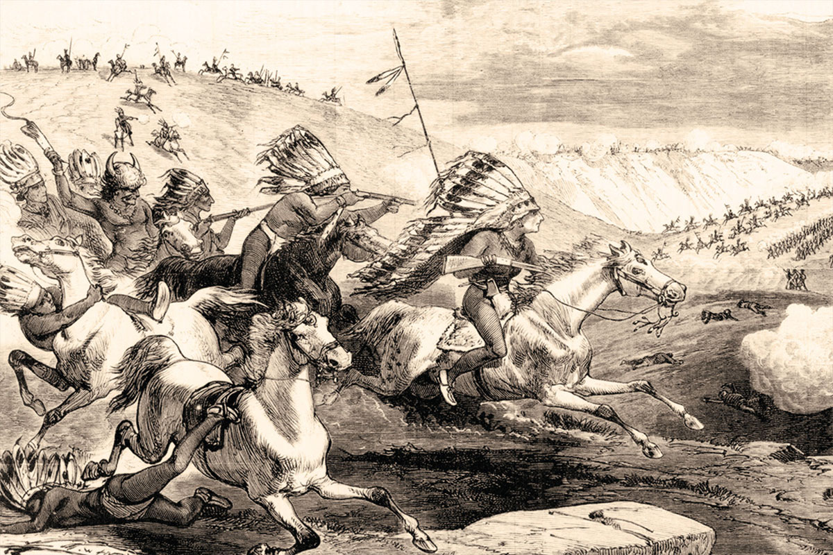 battle of rosebud illustration true west magazine