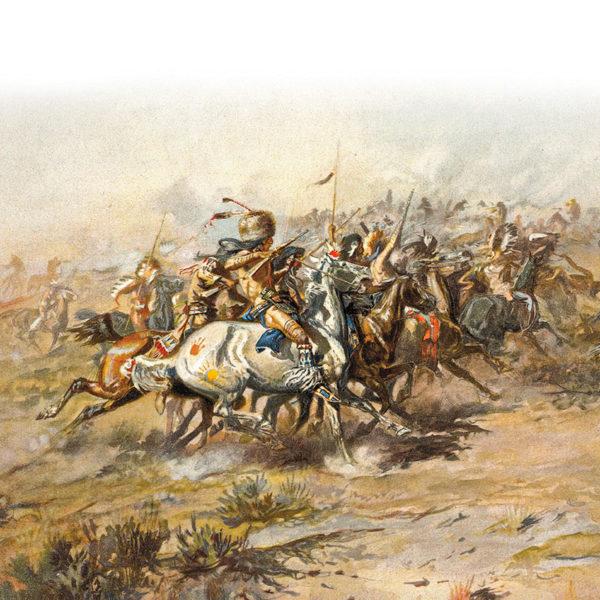 battle of rosebud illustration true west magazine