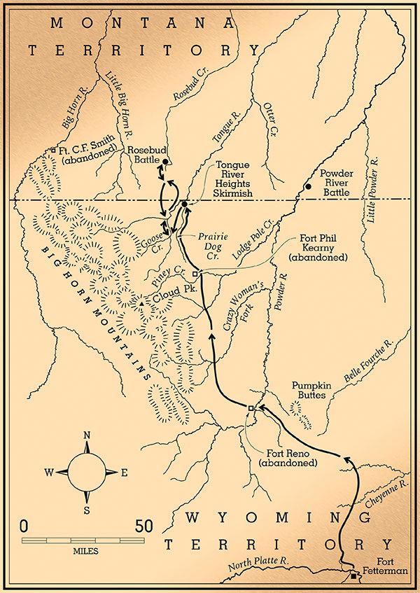 battle of rosebud map true west magazine