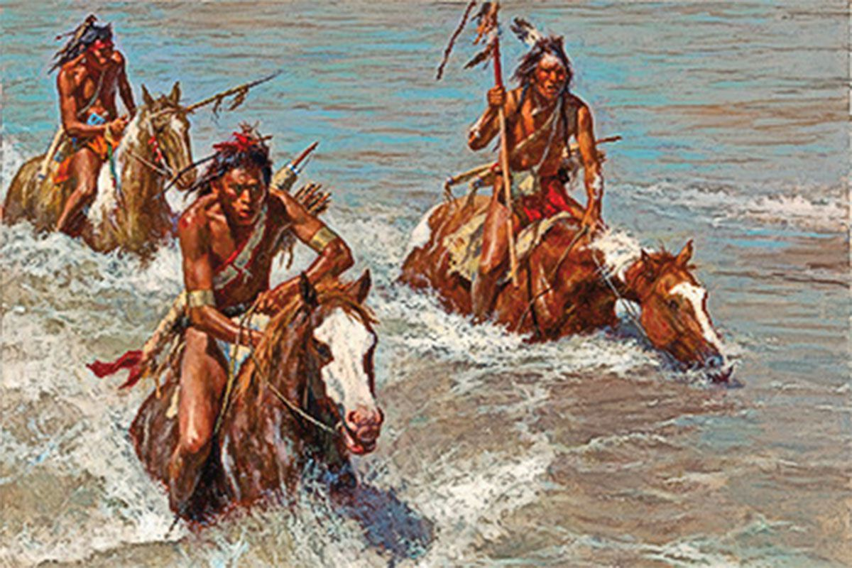 pursuit across the yellowstone by howard terpning true west magazine