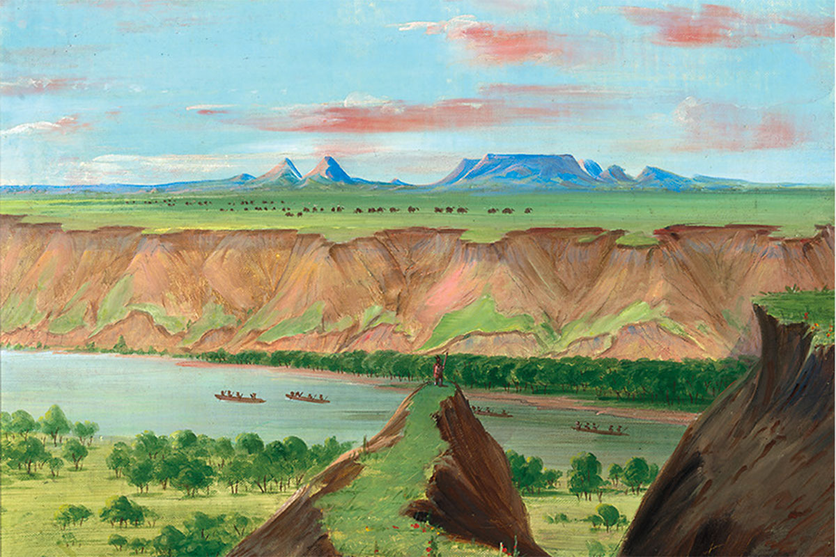 view of the grand detour george catlin true west magazine