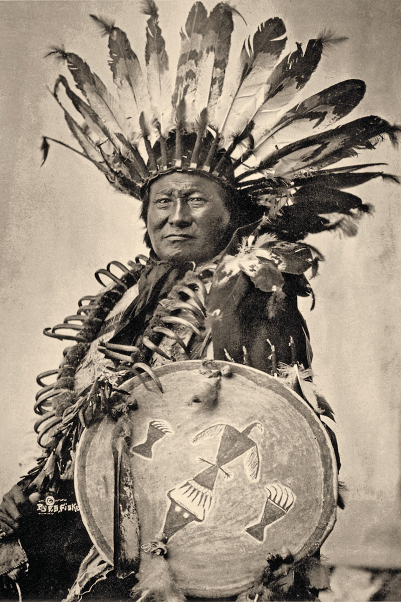 rain in the face hunkpapa lakota war chief in headdress true west magazine
