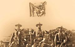 seminole indian scouts on horseback with flag true west magazine