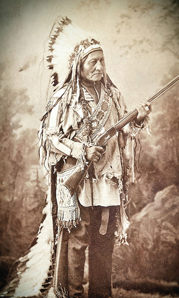 sitting bull with gun true west magazine