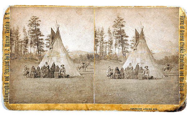 native americans by teepee artifact photo true west magazine