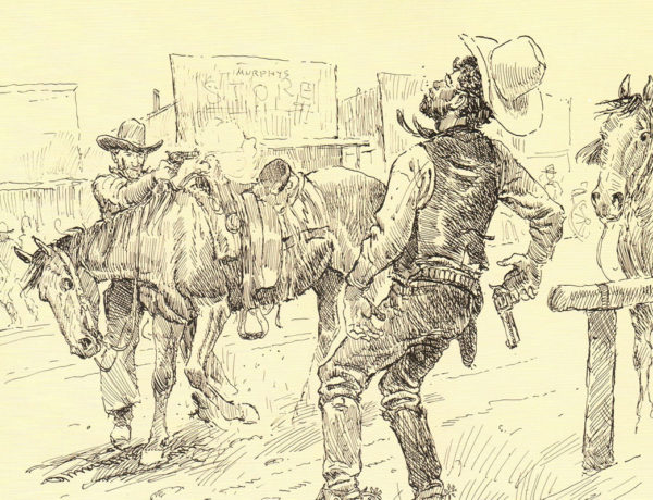 curly bill and jim wallace ink on paper joe beeler true west magazine