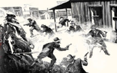 gunfight at ok corral bob boze bell painting true west magazine