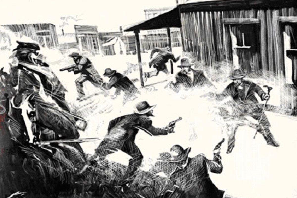 gunfight at ok corral bob boze bell painting true west magazine