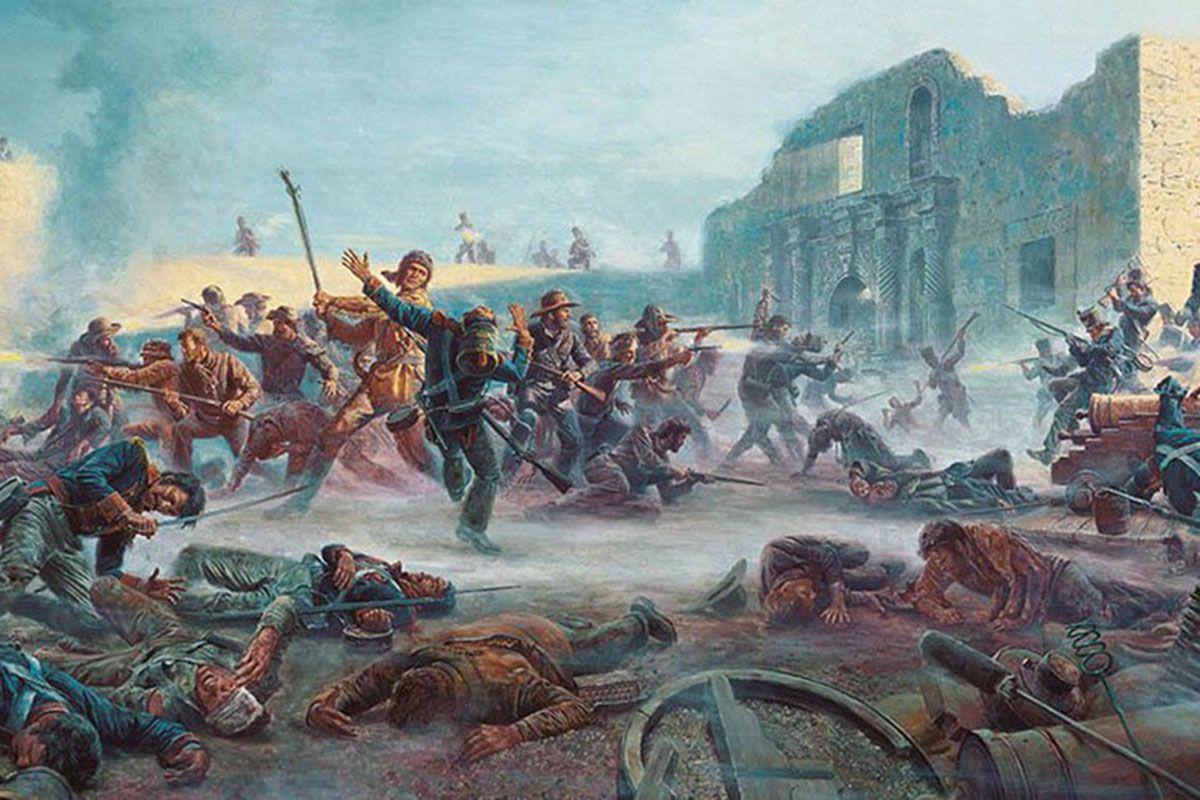 battle of the alamo painting true west magazine