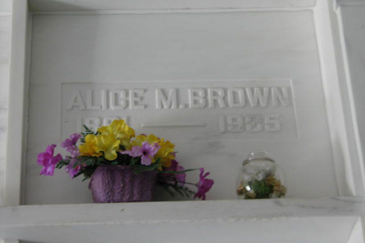 alice m brown grave with flowers true west magazine