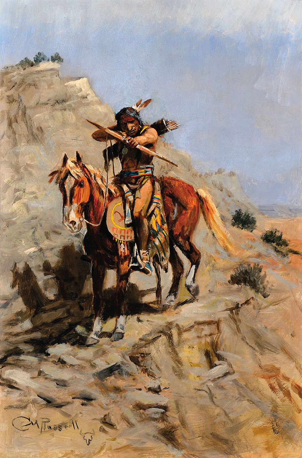 cm russell indian with bow