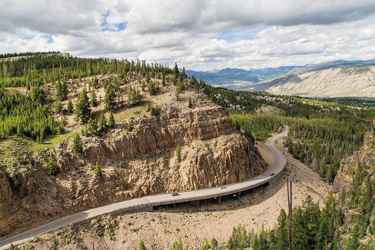 yellowstone national park road true west magazine