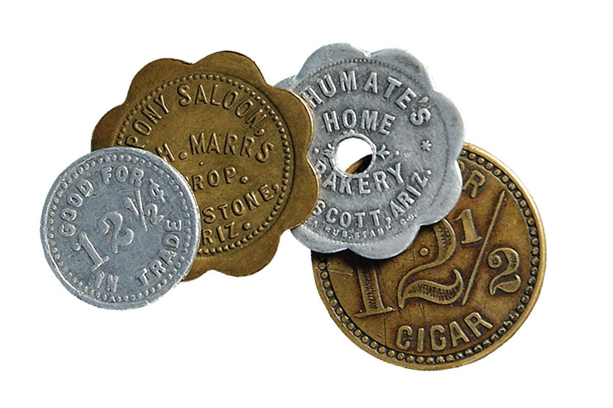 bar tokens coins true west magazine