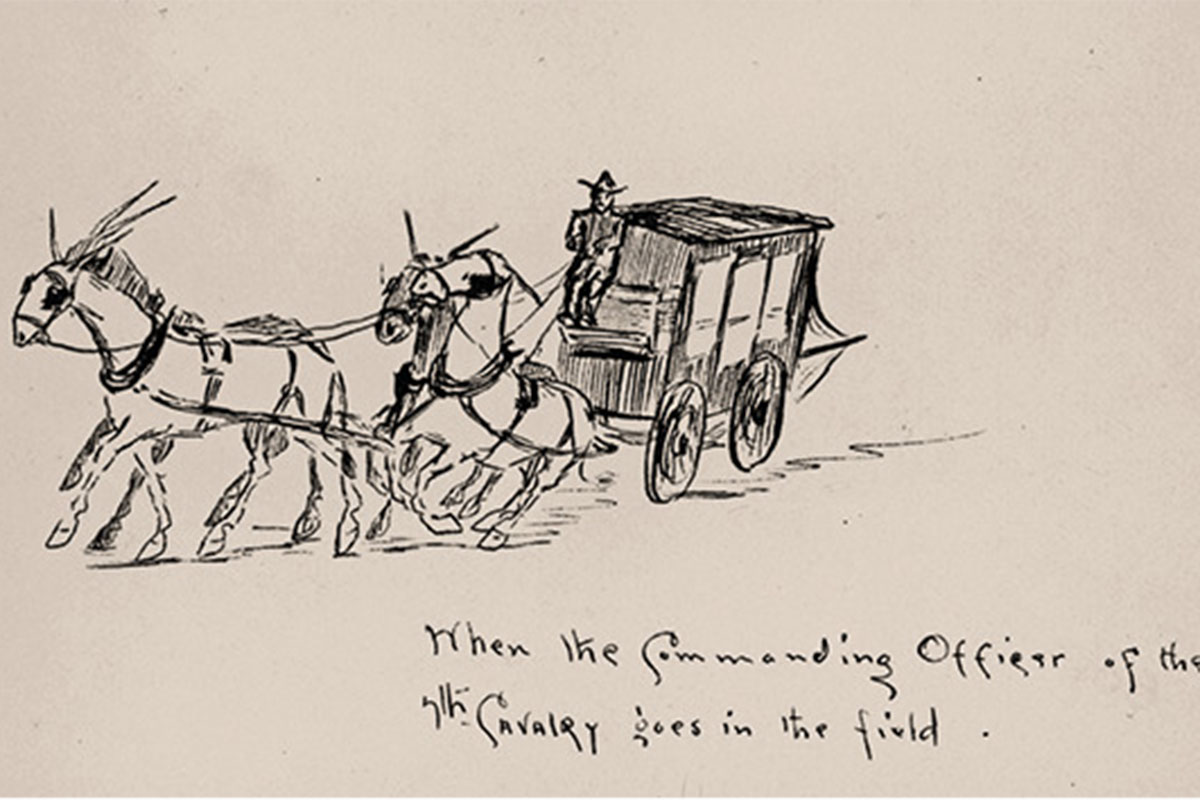 sketch of willcox-fort grant stagecoach by edgar rice burroughs true west magazine