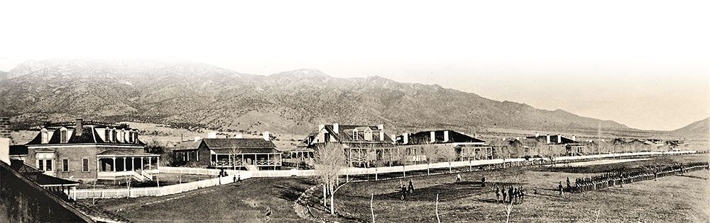 panoramic view fort grant arizona officers row lake constance true west magazine