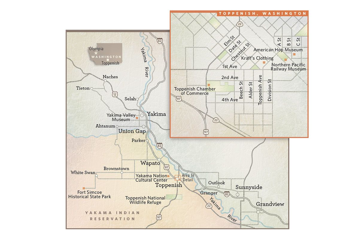 map toppenish washington true west magazine
