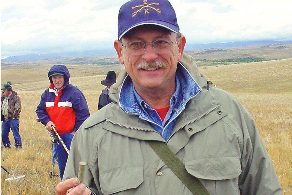 douglas mcchristian historian holding an artifact true west magazine