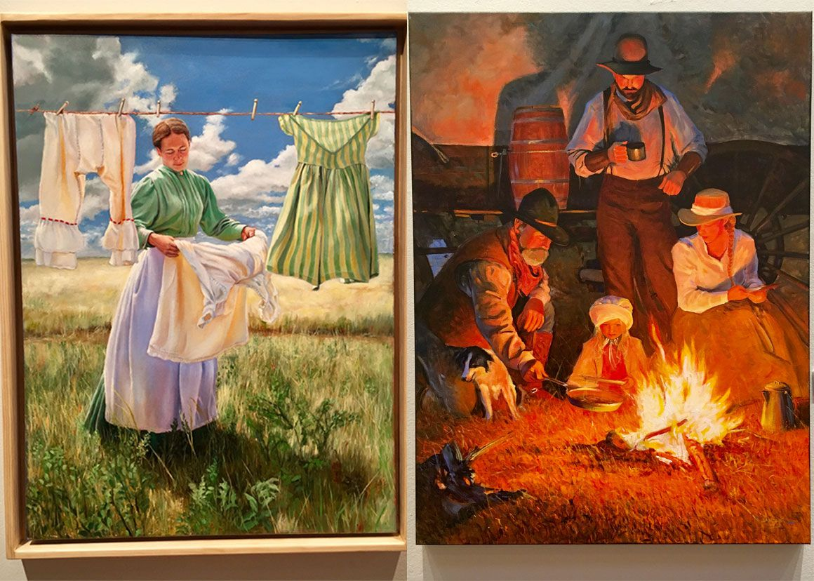 American Plains Artists two paintings that will be featured at the San Angelo Exhibit