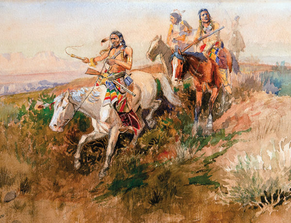 watercolor indian scout painting true west magazine