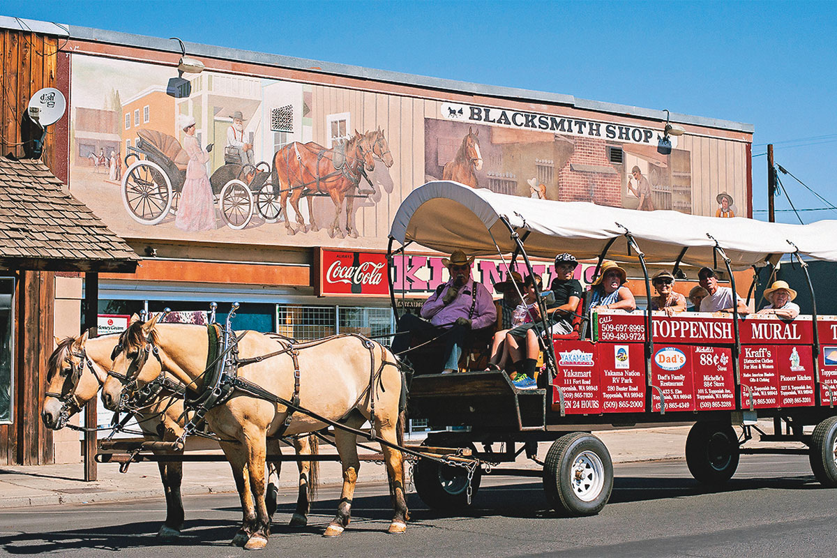toppenish historic district wagon tours washington true west magazine