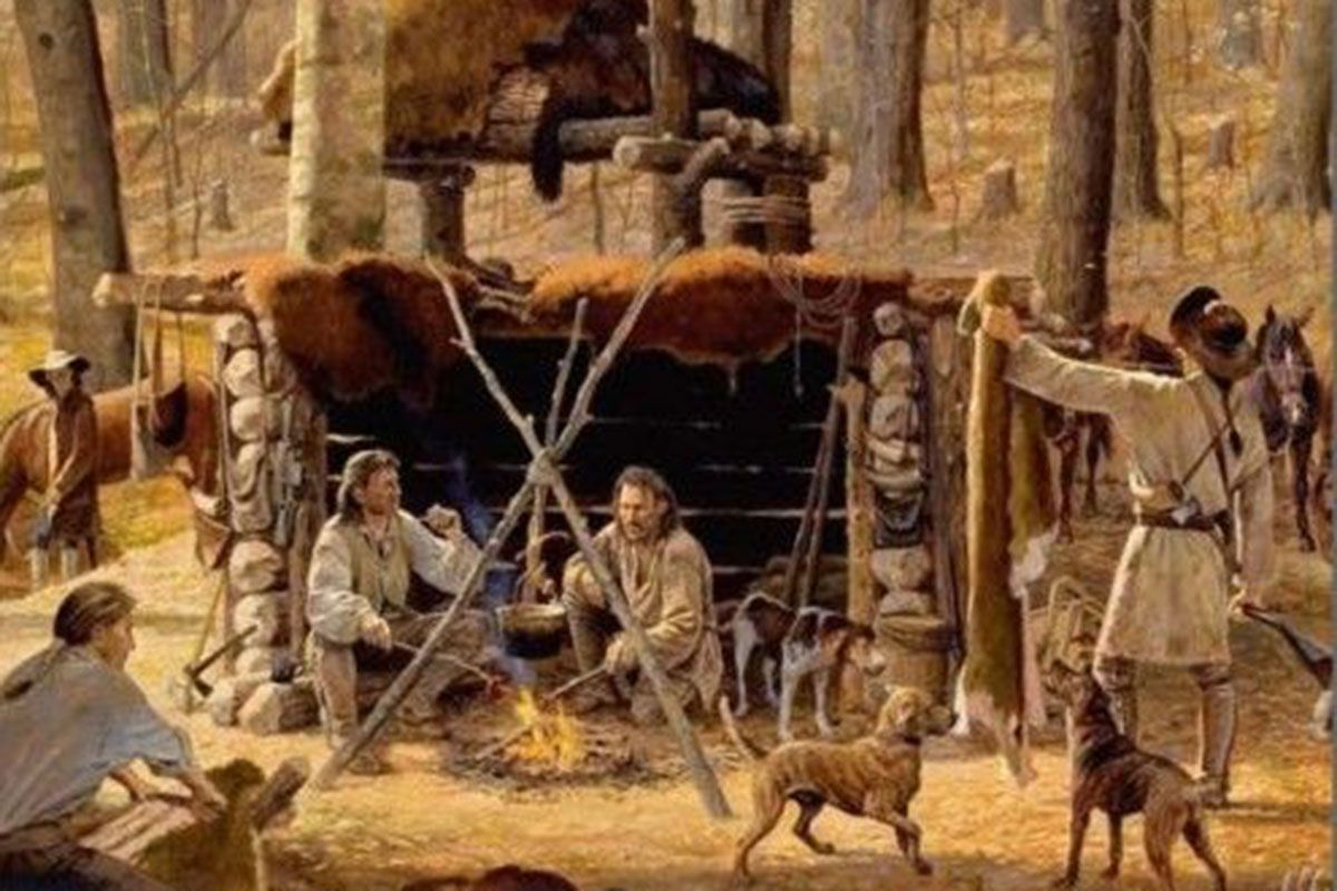 trapper camp painting true west magazine