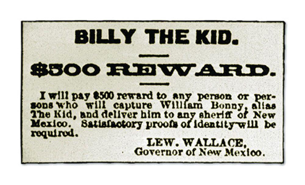 billy the kid reward poster true west magazine