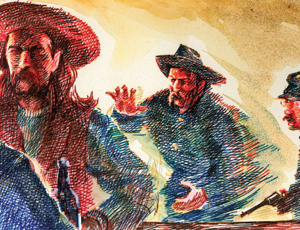 wild bill hickok brawls with 7th cavalry troopers art true west magazine