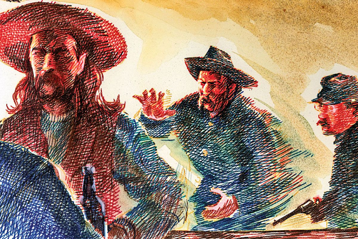 wild bill hickok brawls with 7th cavalry troopers art true west magazine