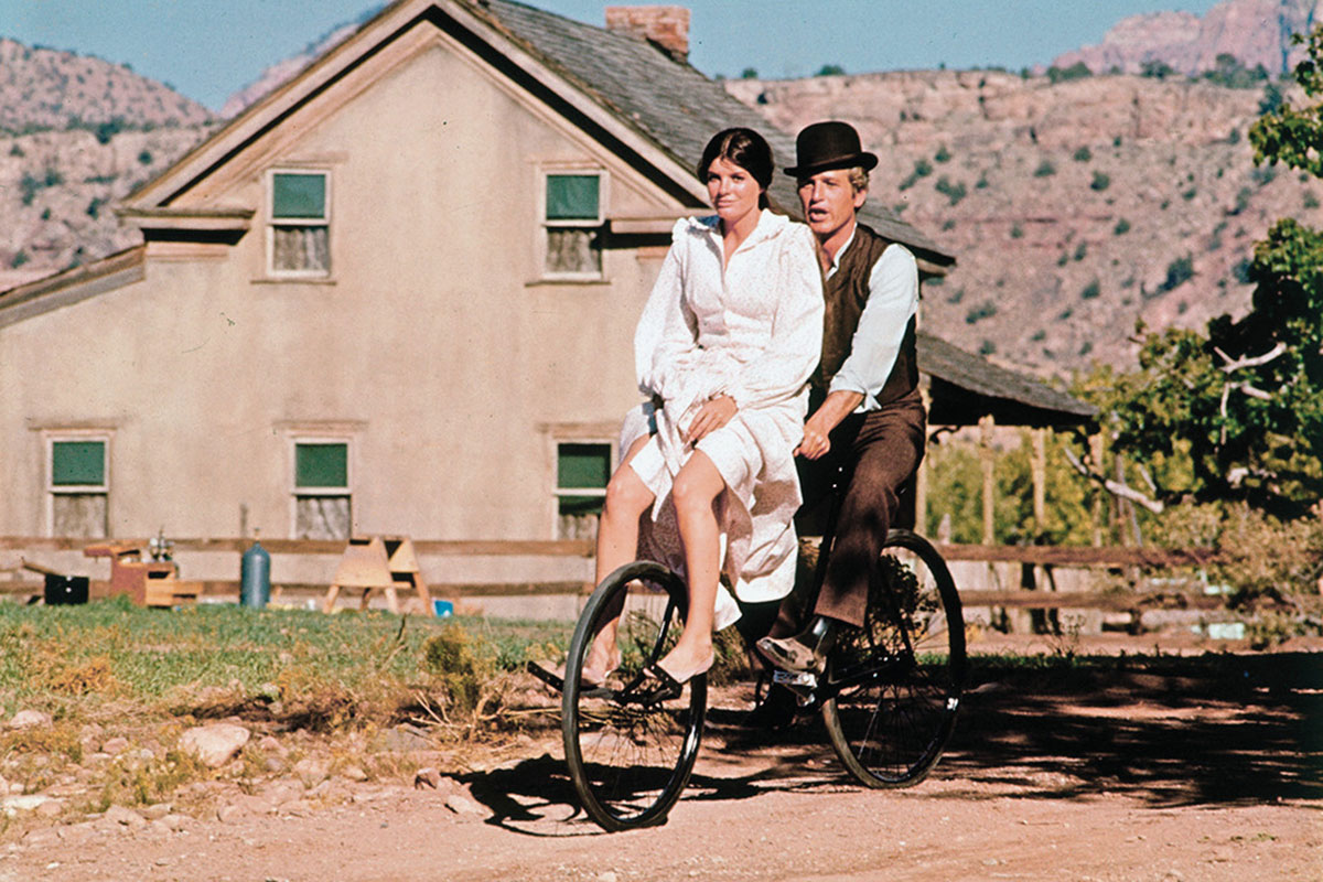 katharine ross robert redford butch cassidy and the sundance kid bicycle ride true west magazine