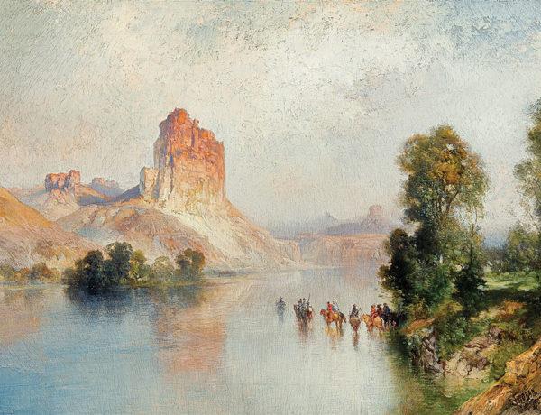 castle rock green river thomas moran oil canvas true west magazine
