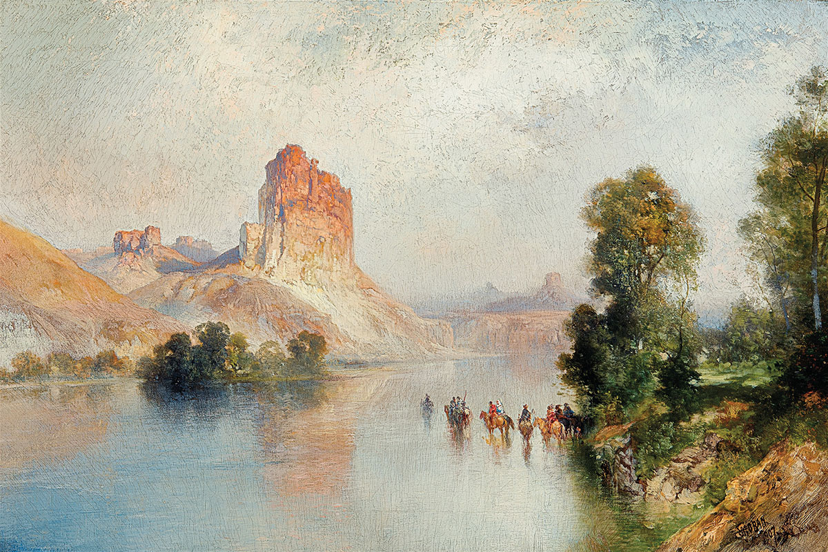 castle rock green river thomas moran oil canvas true west magazine